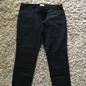 Old Navy Pixie black classic ankle pants 14 NWOT